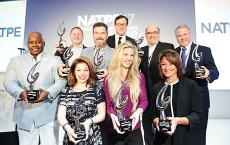Winners line up at the Natpe 2017 Reality Breakthrough Awards