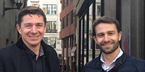 2le's Michael Livingstone (left) and Tom Thostrup
