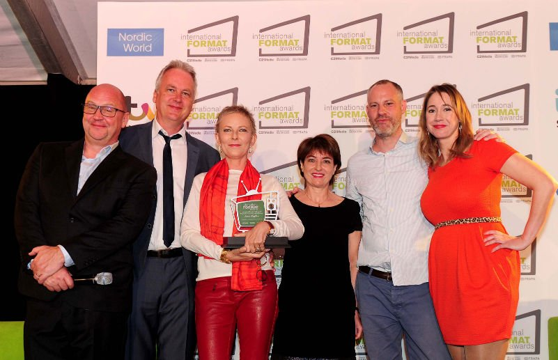 C21's David Jenkinson, Nordic World's Jan Salling, award winner Annie Wegelius, Reed Midem's Garaude, EMC's Christopher Fey and host Tiff Stevenson. SWPix