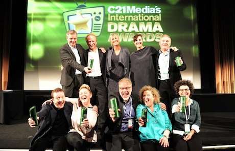 Winners celebrate at the C21 Drama Awards