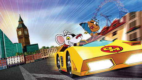The rebooted version of Danger Mouse