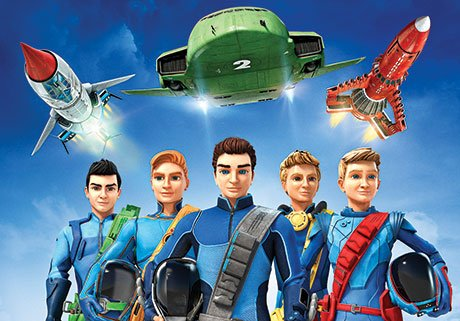 Thunderbirds Are Go! uses both CGI and live-action miniatures