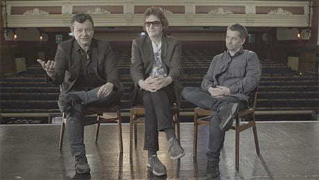 From left: James Dean Bradfield, Nicky Wire and Sean Moore of Manic Street Preachers