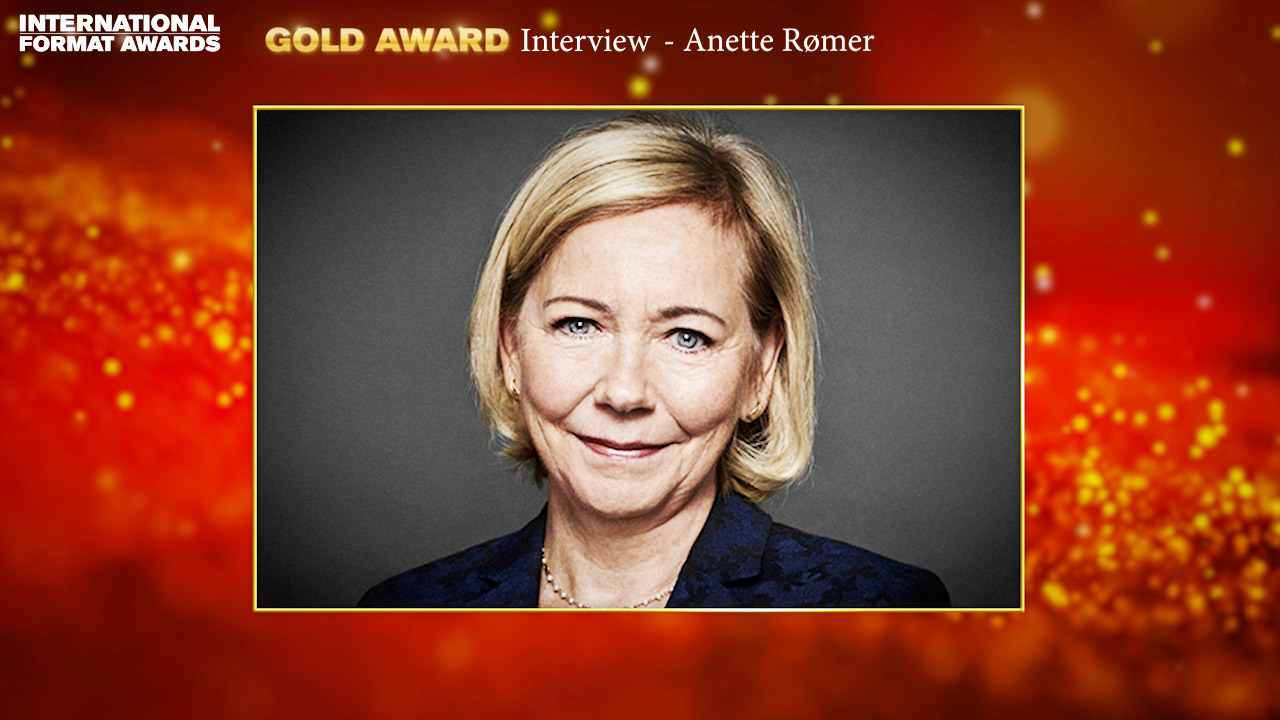 International Formats Gold Award: Anette Rømer, formats consultant, STV Production