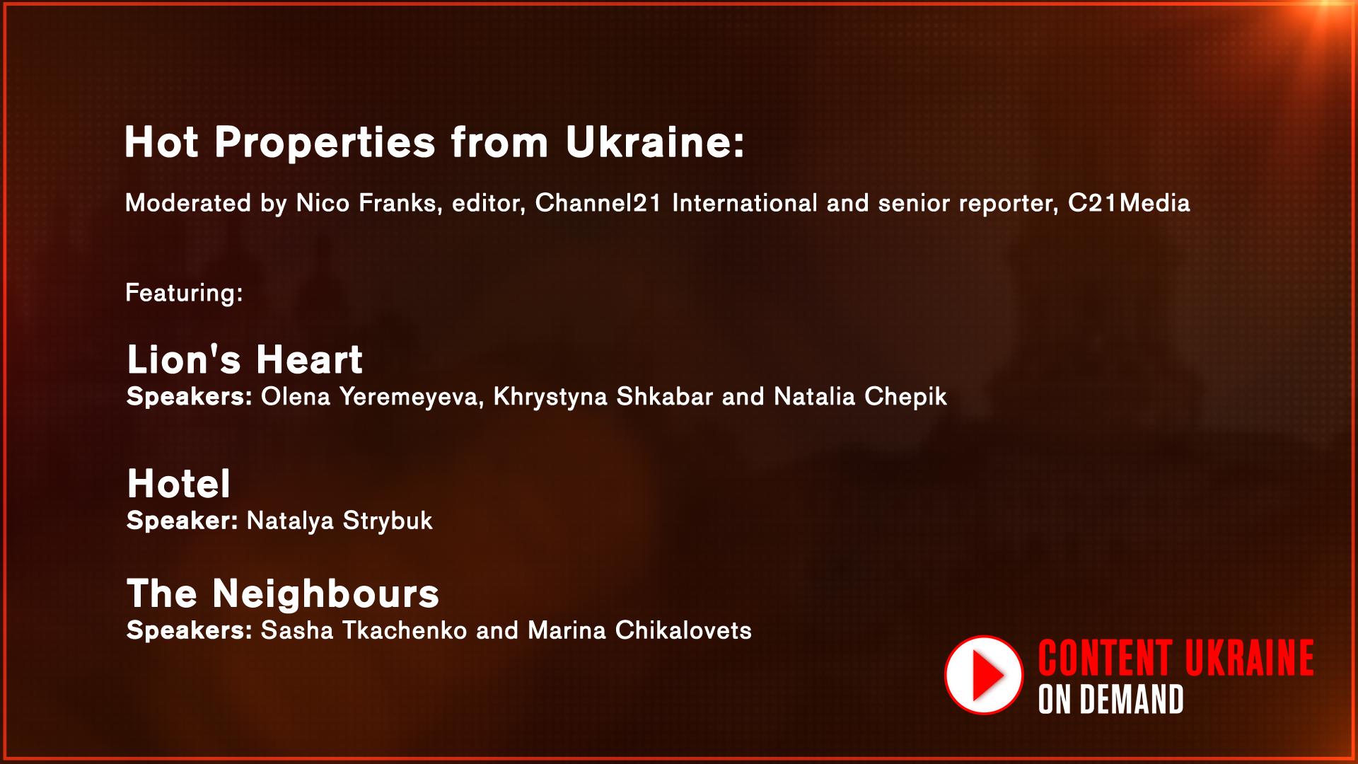 Hot Properties from Ukraine